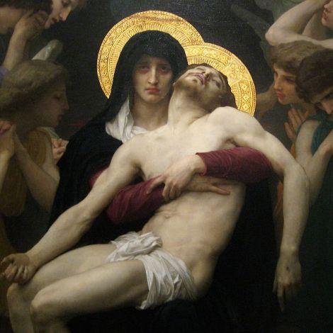 World Scripture for Daily Living.corpvs William Adolphe Bouguereau óleo sobre lienzo La Pieta